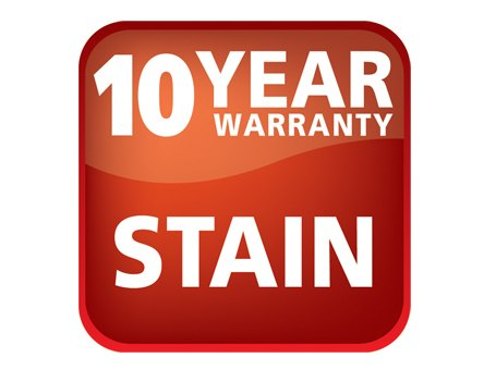 10 year warranty stain
