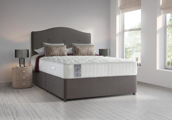 Sealy Contemporary tobacco brown bedroom with wood floor